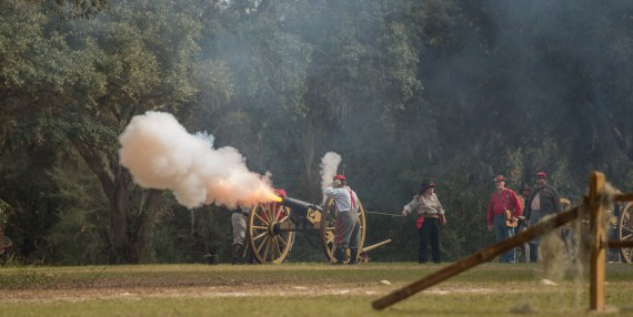 Battle of Townsend's Plantation – 2016 – Civil War Re-enactment – Mt Dora, Florida