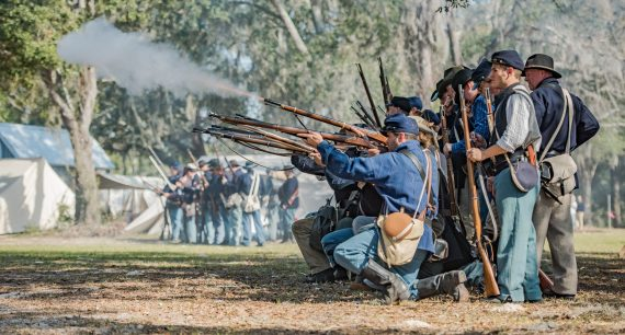 Battle of Townsend's Plantation – 2017 – Civil War Re-enactment – Mount Dora, Florida